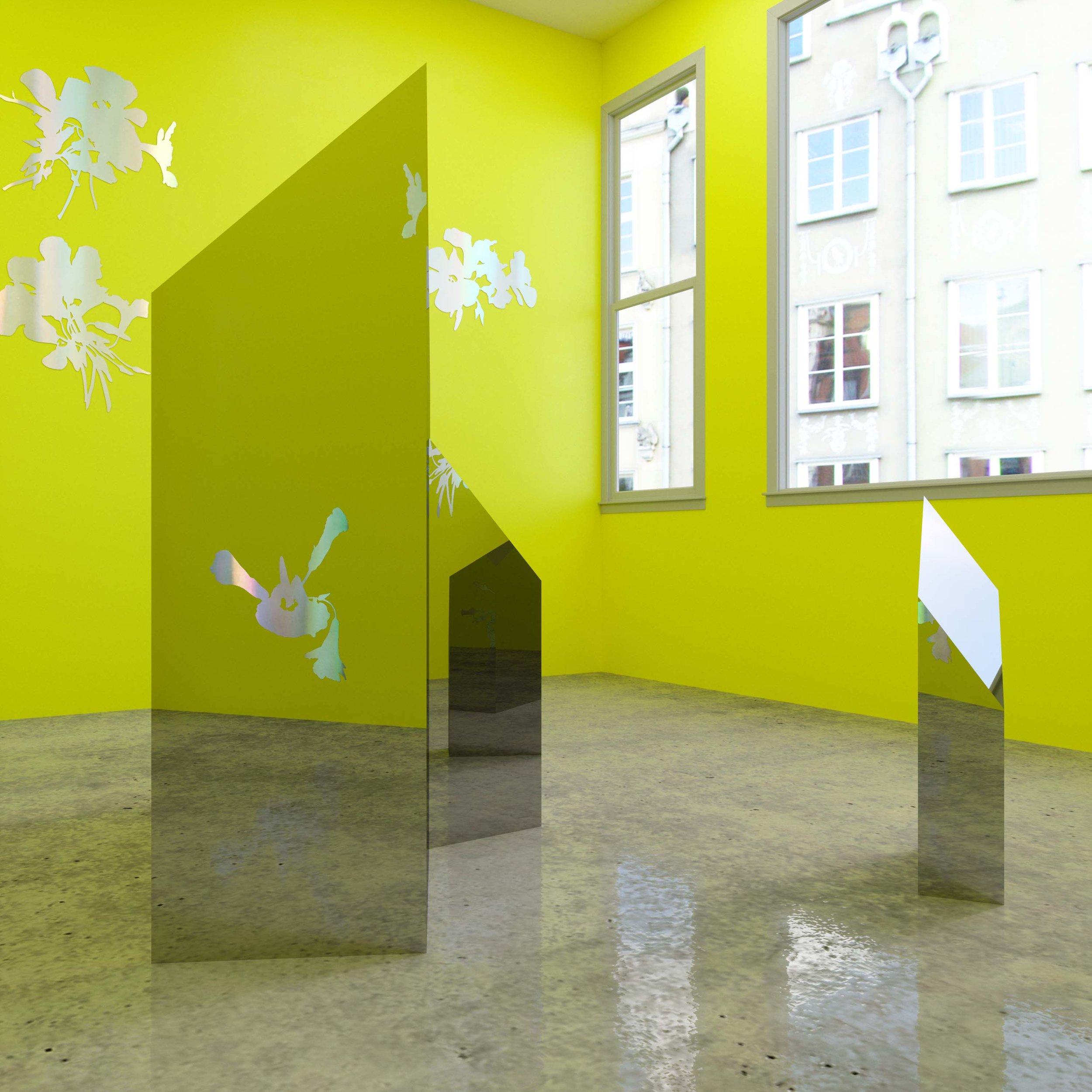 Ren Gregorčič, sour sour sob (installation view), 2018.