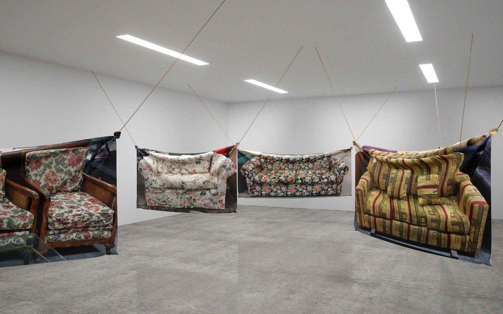 Shannon Garrett and Ren Gregorčič, feel forever feels (installation details), 2017.
