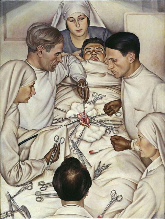 Christian Schad, Operation,1929.Lenbachhaus, Munchen, Germany.