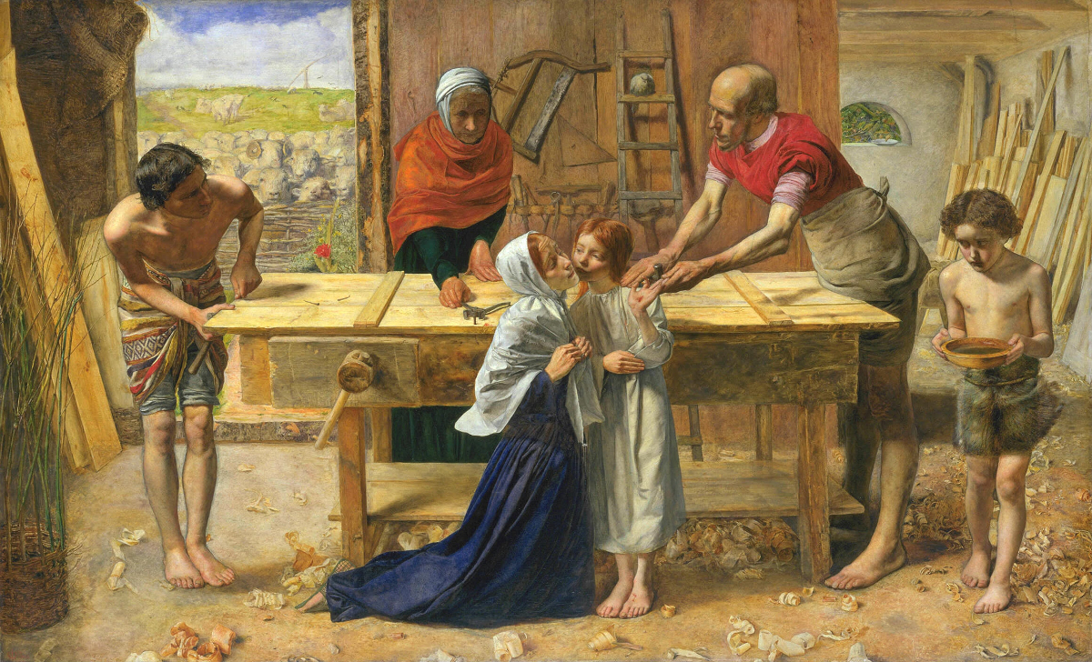 John Everett Millais. Christ in the House of His Parents (The Carpenter's Shop) (1849–50).