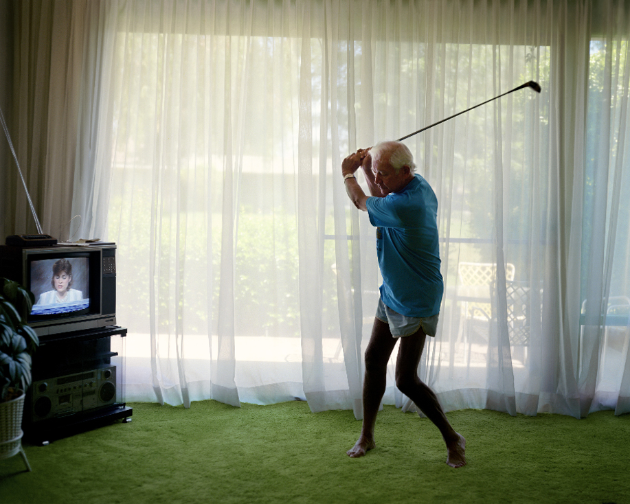 Larry Sultan, Practicing Golf Swing, 1986.