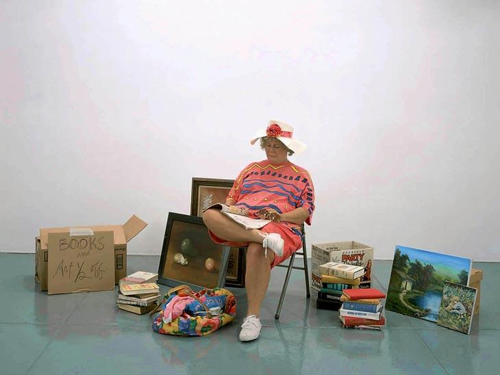 Duane Hanson, Flea Market Vendor, 1990 via  saatchi gallery