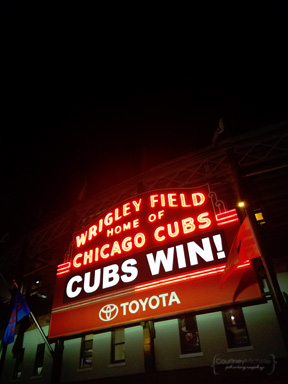 My favorite part was singing the Cubs song at the end of the game!