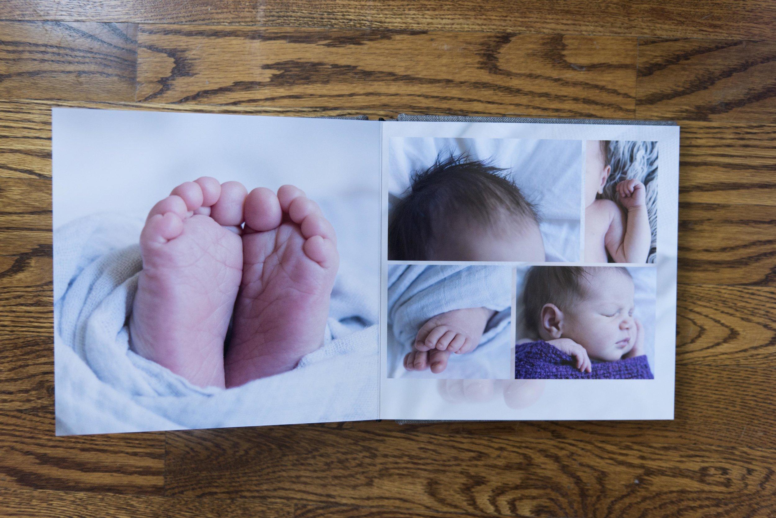 custom newborn album