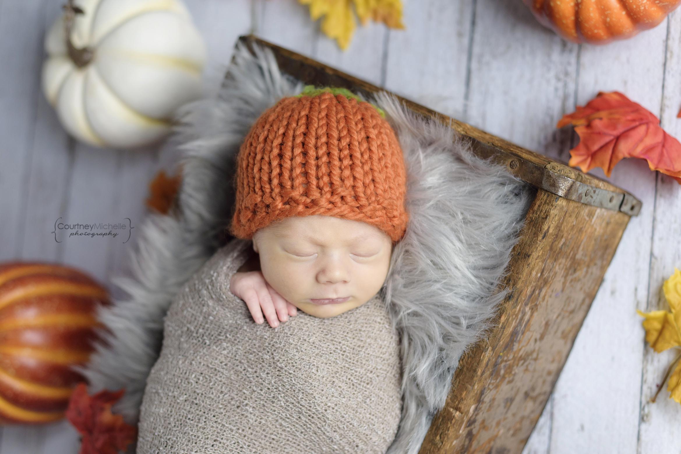 chicago-newborn-newborn-in-pumpkin-hat-with-leaves©COPYRIGHTCMP-6133edit.jpg