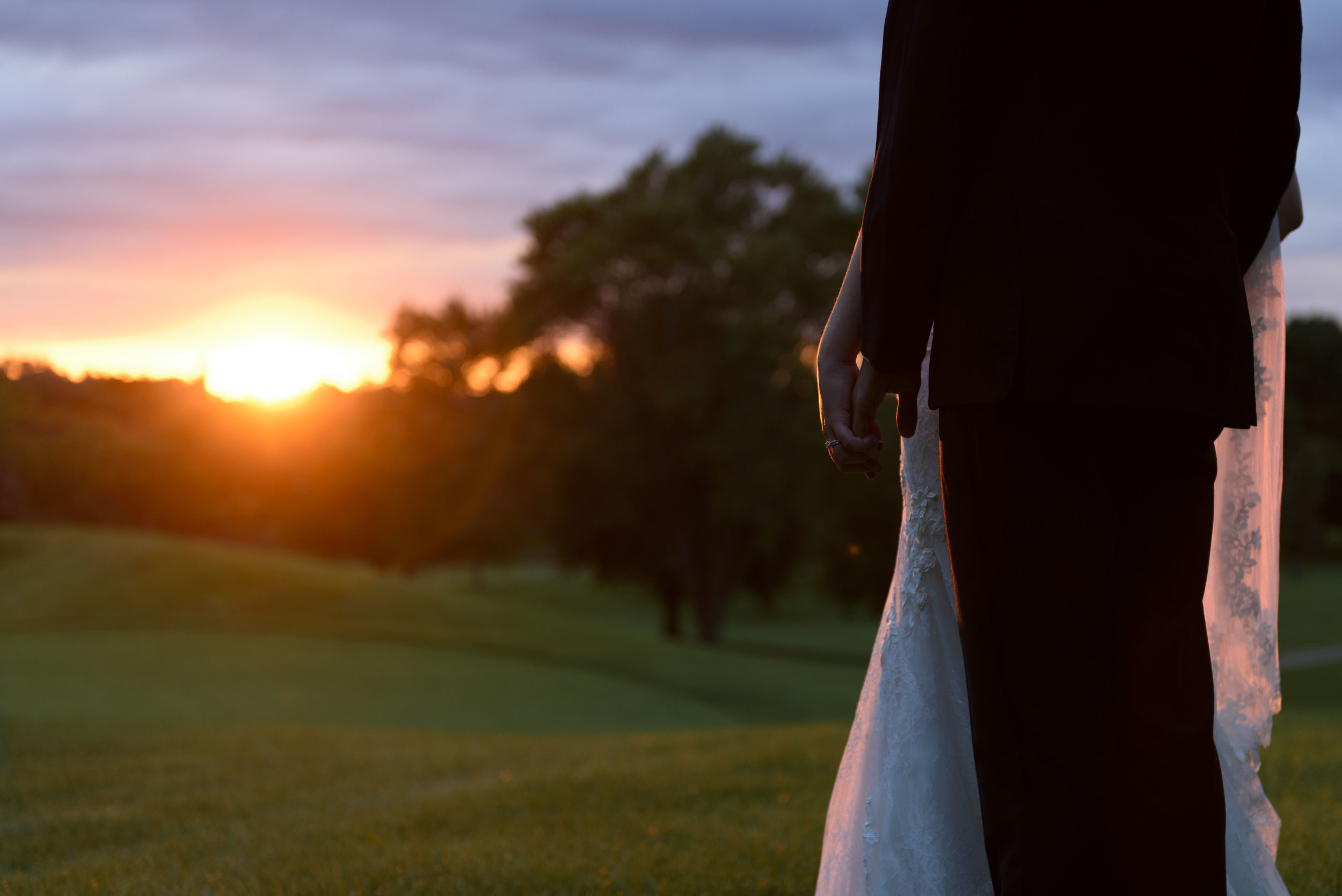 bride-and-groom-at-sunset-overlooking-golf-course-chicago-weddings