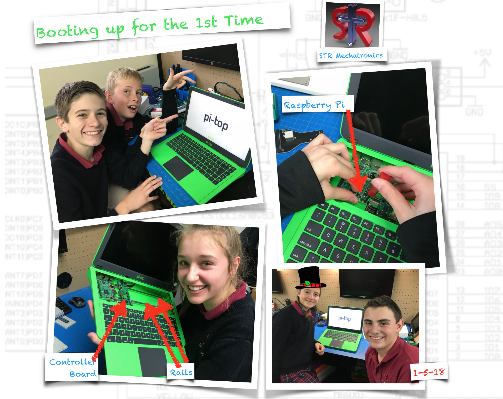 7th Graders assemble the Pi-Top chassis and install the Raspberry-Pi boards.
