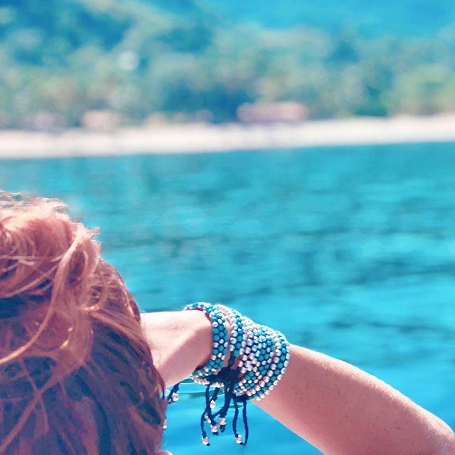 Sometimes all you need is a good dose of vitamin sea 🌊 . . . . . . . . #handmade #handmadejewelry #bohojewelry #fashionblogger #yoga #bohemian #bohemianjewelry #handcrafted #gypsy #globalswag #agate #vegan #beachjewelry #turquoisejewelry #bohochic #beachchic #pearls  #saltyarrow #gypset #wanderlust  #bohostyle  #wildandfree #kilim #sailing #bohobracelet