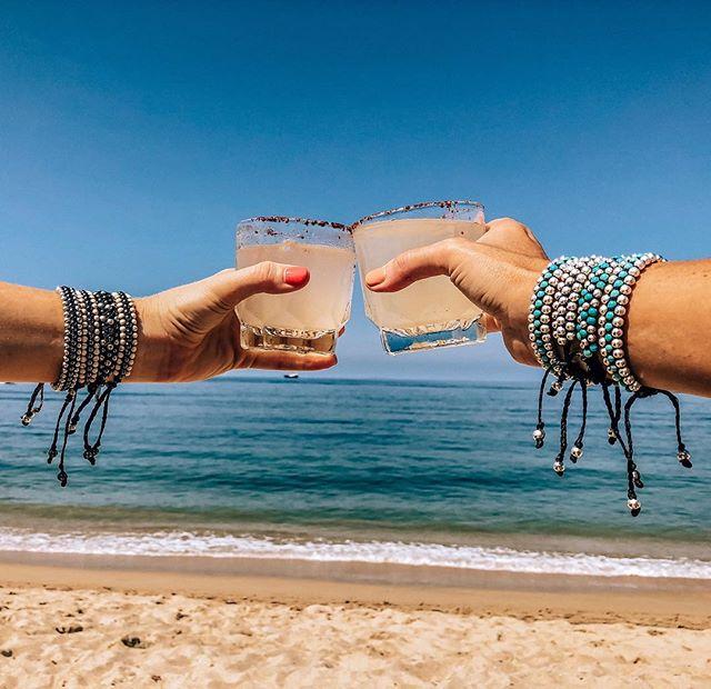"""If life gives you limes, make margaritas."" ~Jimmy Buffet  CHEERS! . . . . . . . . #handmade #handmadejewelry #margaritas #bohojewelry #bohobracelet #fashionblogger #yoga #bohemian #bohemianjewelry #handcrafted #gypsy #globalswag #agate #vegan #beachjewelry #turquoisejewelry #bohochic #beachchic #pearls  #saltyarrow #gypset #wanderlust  #bohostyle  #wildandfree"