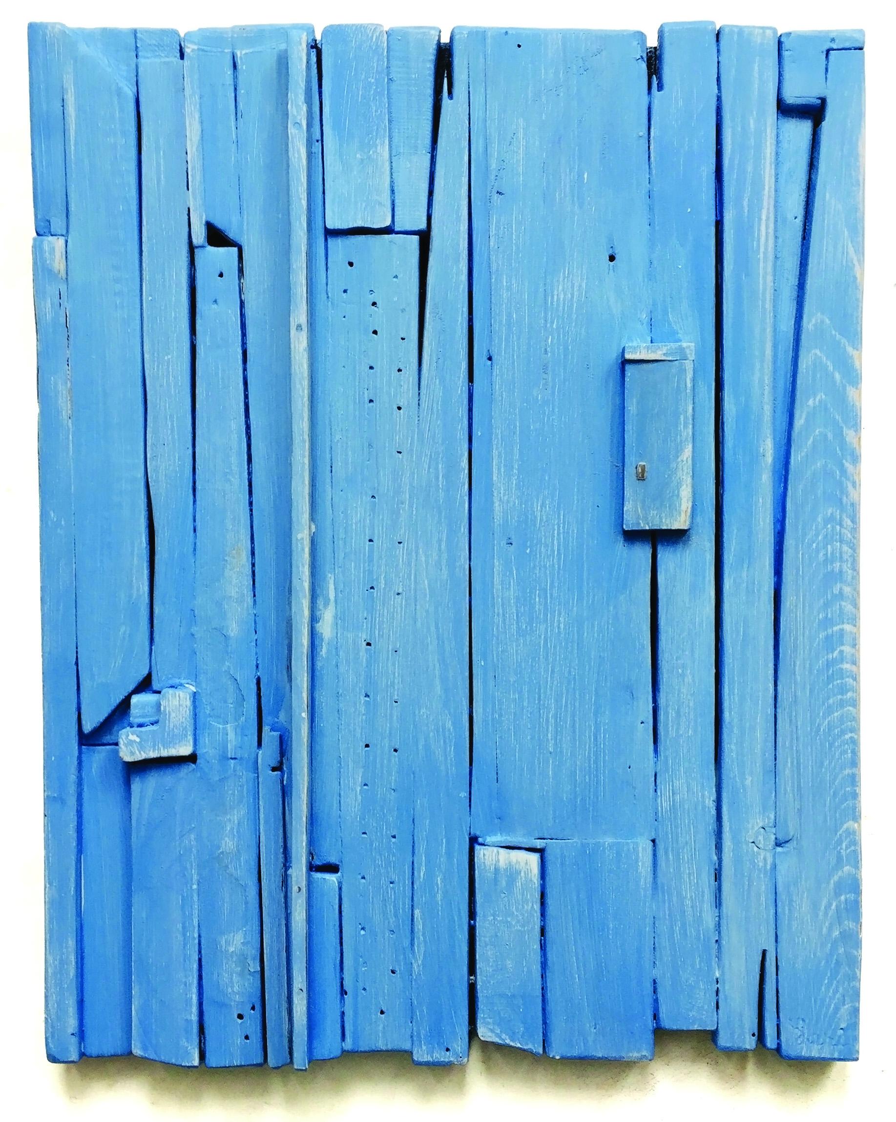 Painted Wood Light Blue