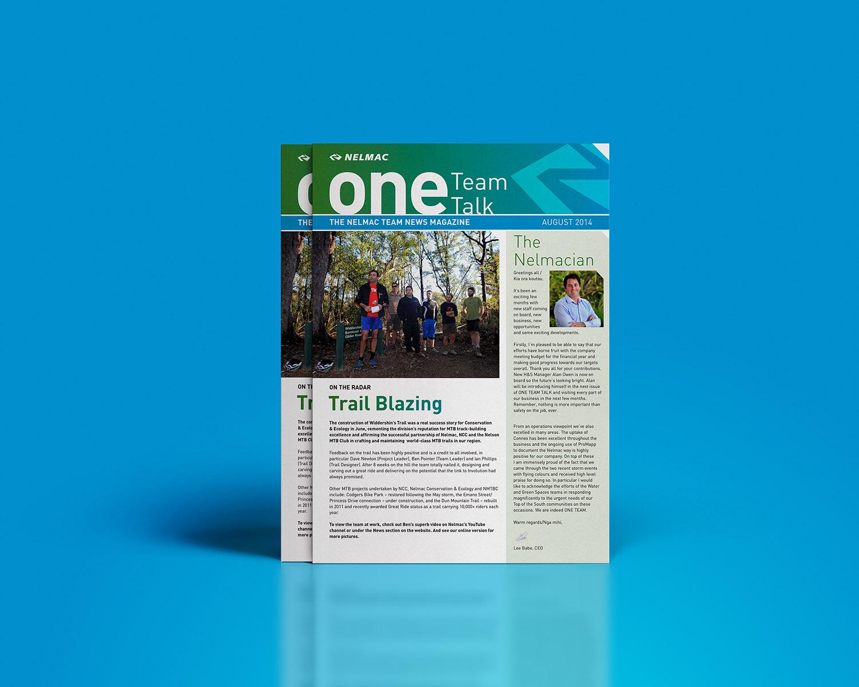 Nelmac One Team Talk Newsletter Design