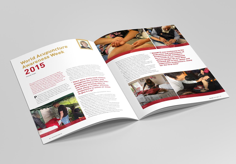 Acupuncture NZ Journal Spread Design