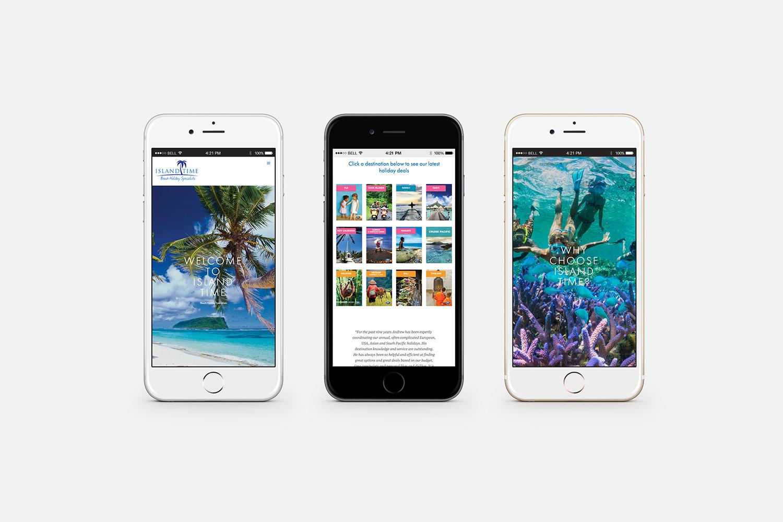 Island Time Website Mobile Design