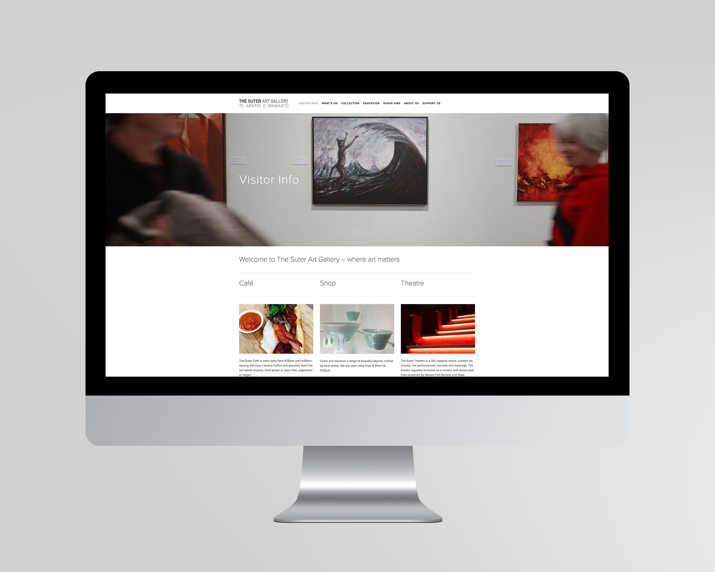 The Suter Website Homepage Design