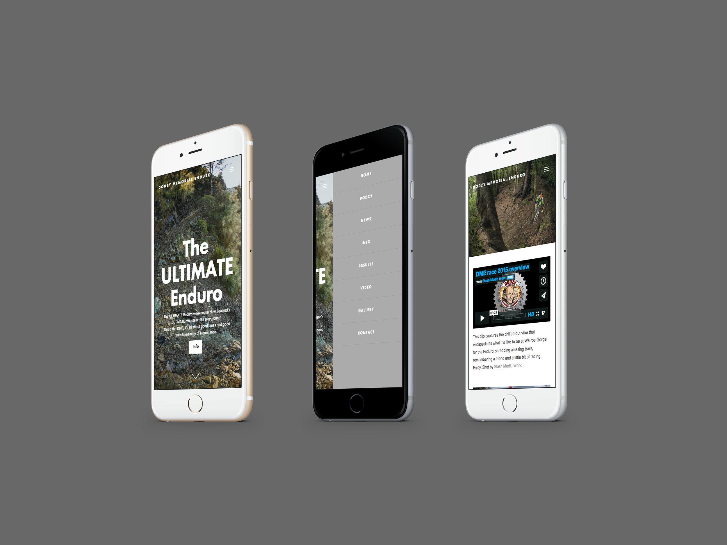 DME Website Mobile Design