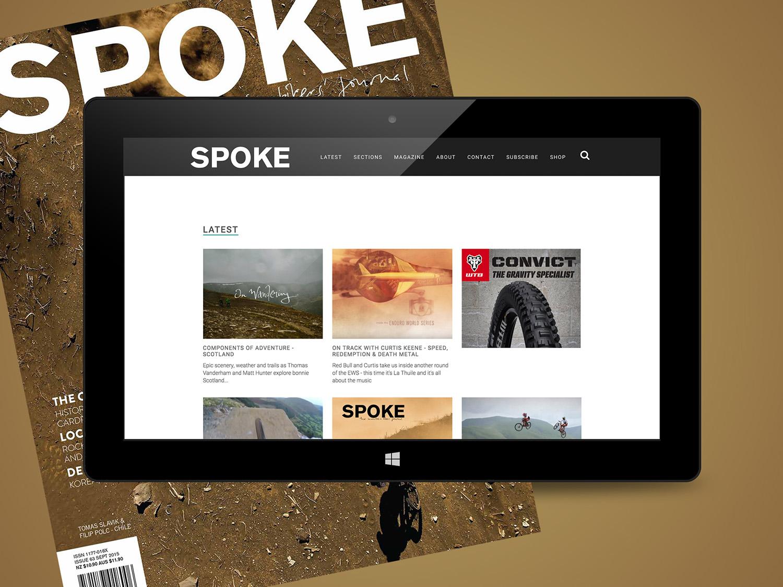 Spoke Website Homepage Design