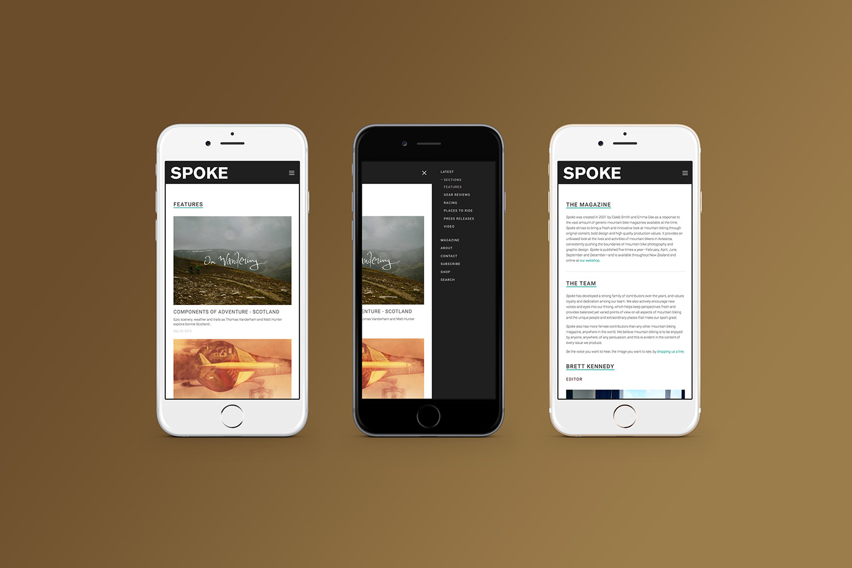 Spoke Website Mobile Design
