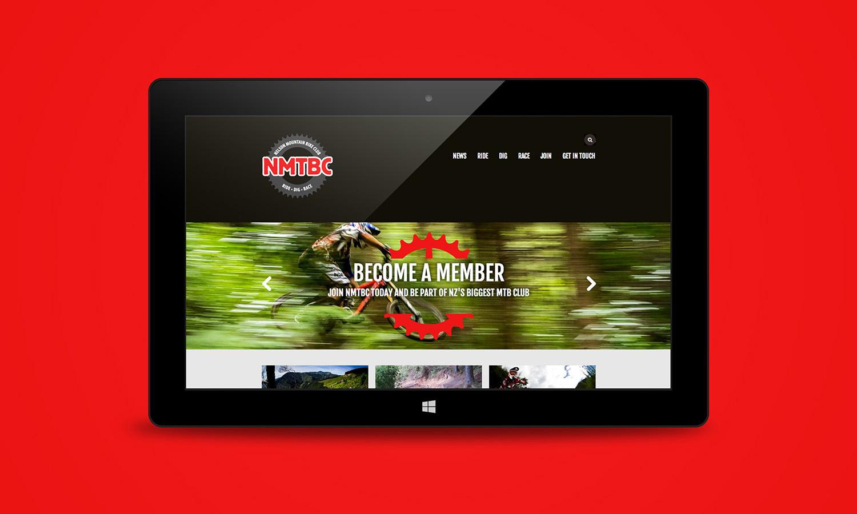 NMTBC Website Homepage Tablet Design