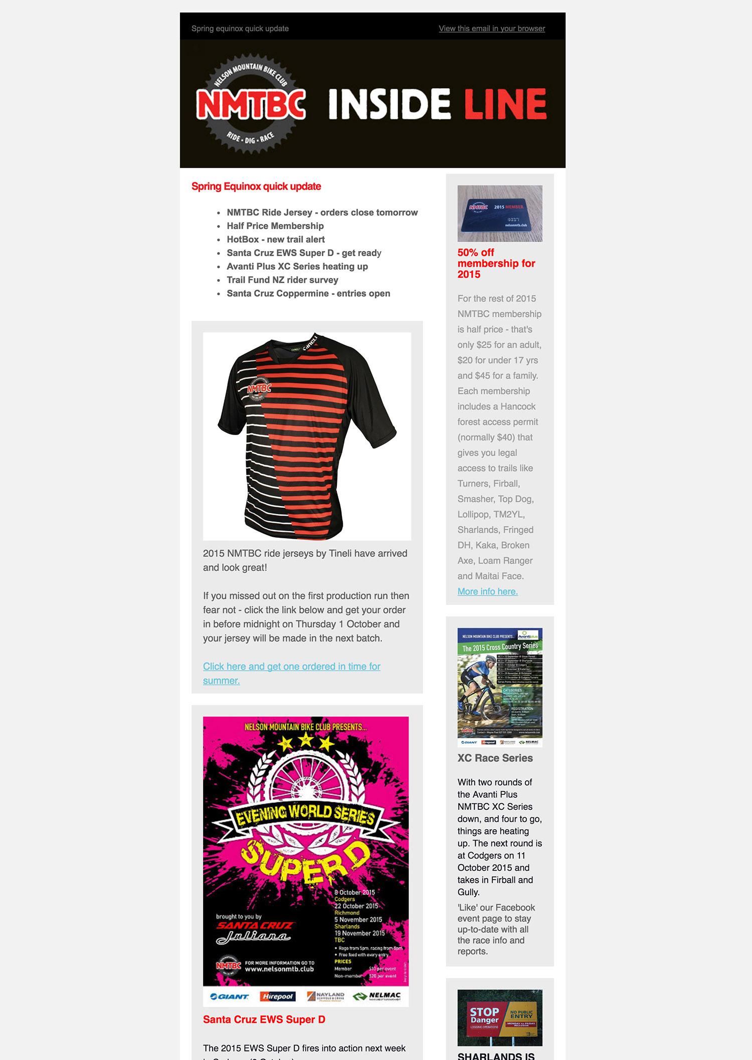 NMTBC Digital Newsletter Design