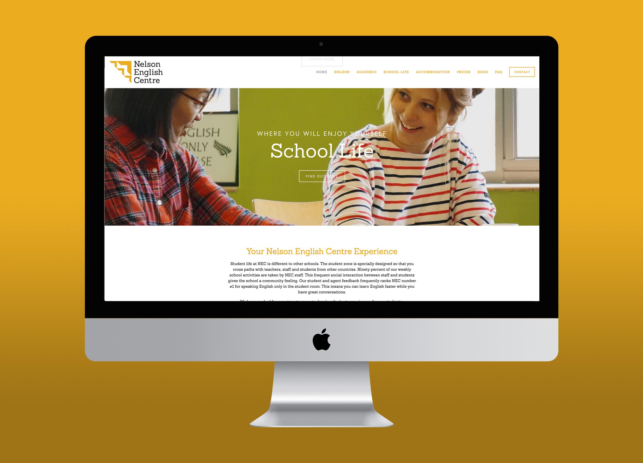 NEC Website Homepage Design