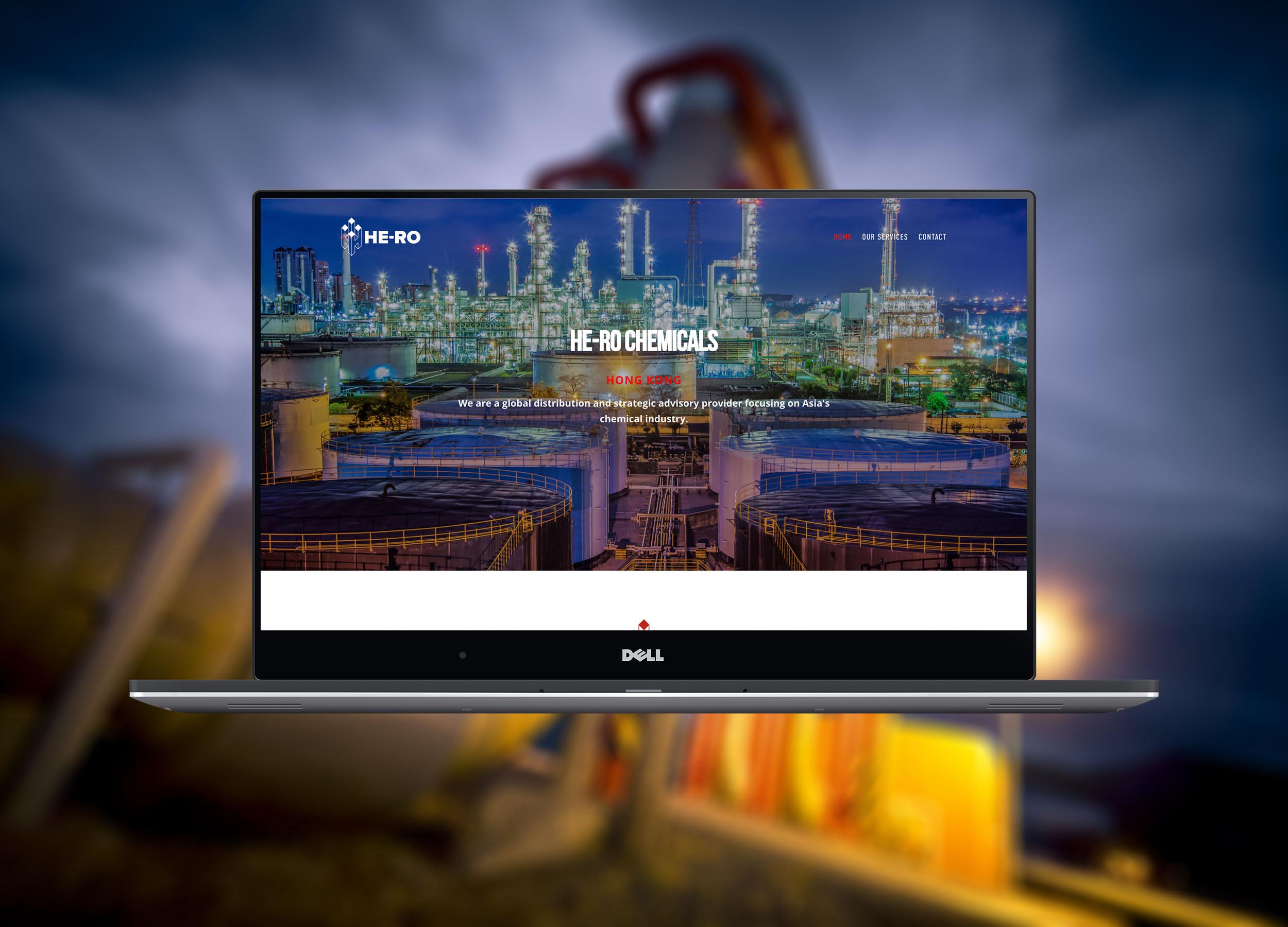 He-Ro Chemicals Website Homepage Design