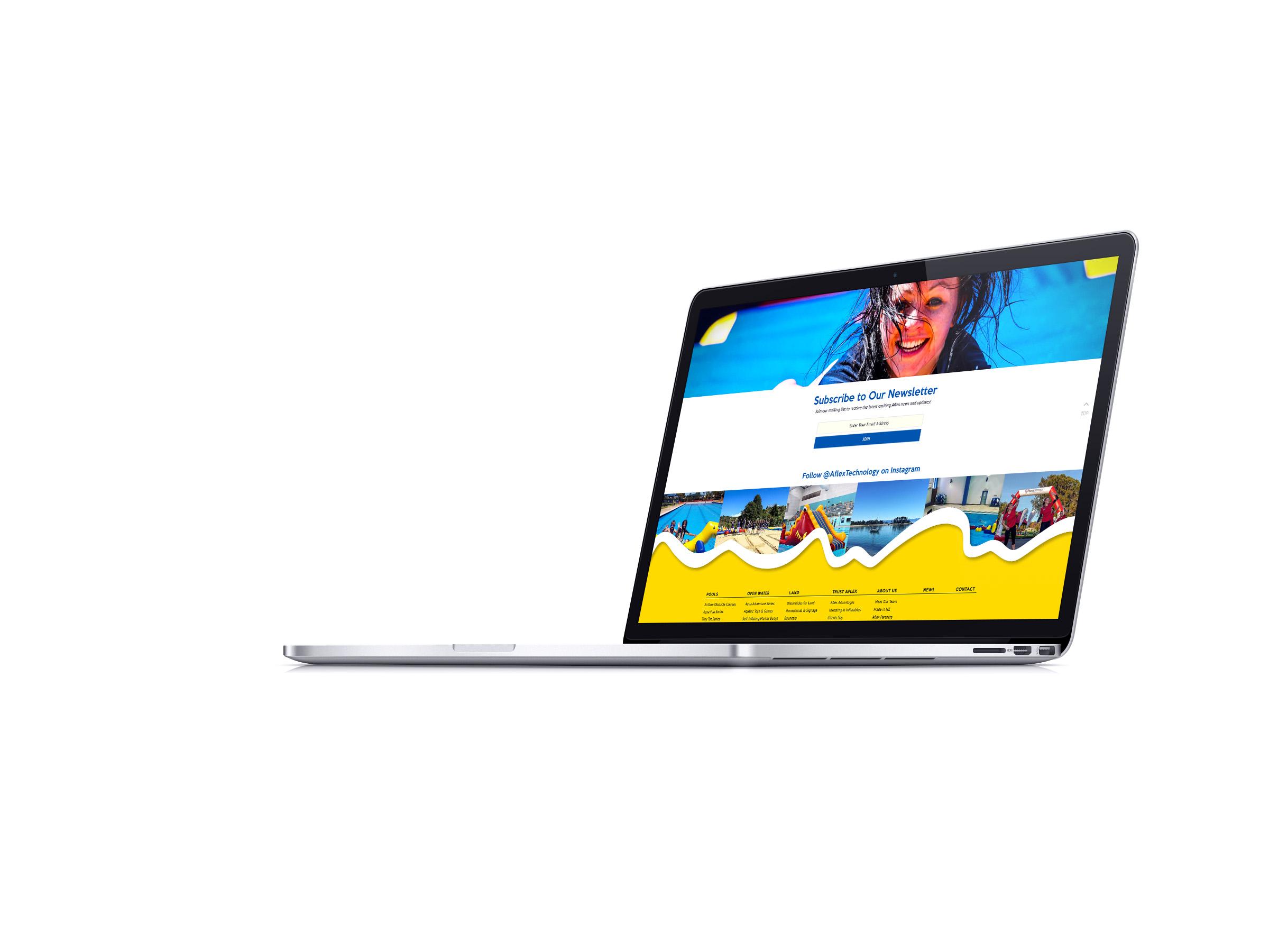 Aflex Website Subscribe Page Design
