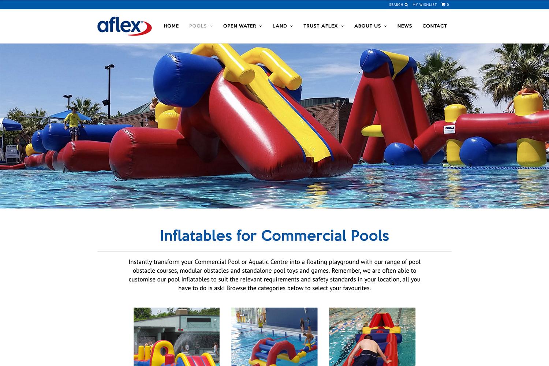 Aflex Website Product Landing Page Design
