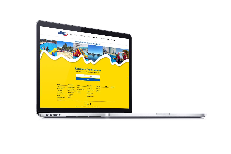 Aflex Website Footer Design