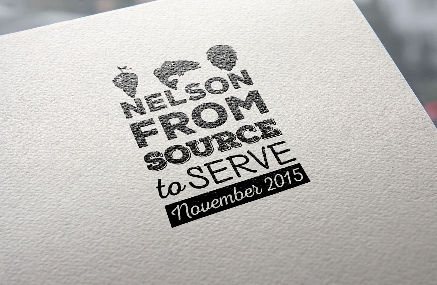 Nelson Form Source to Serve Logo Design