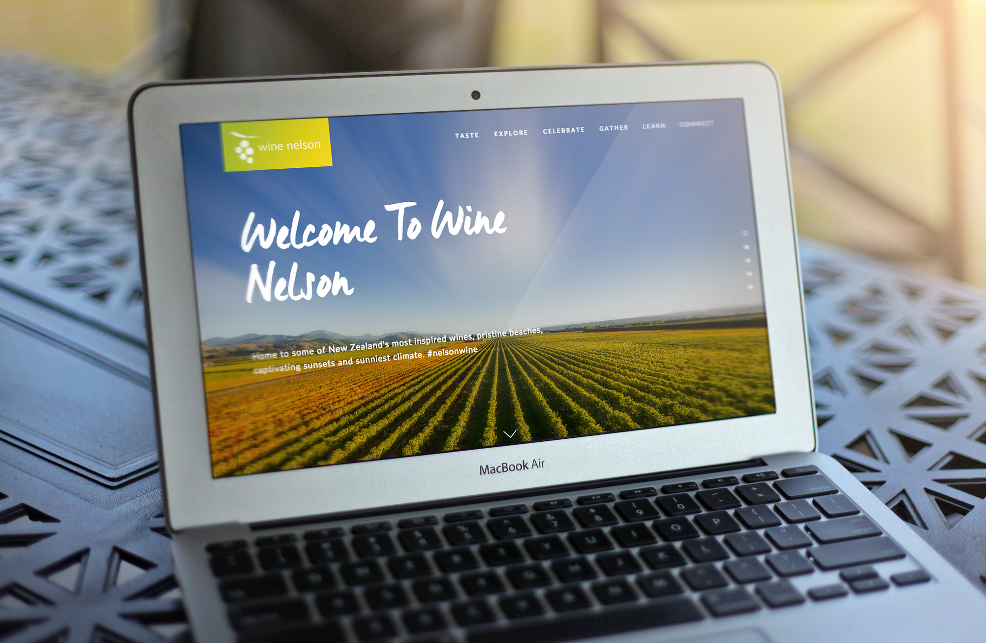 Wine Nelson Website Homepage Design