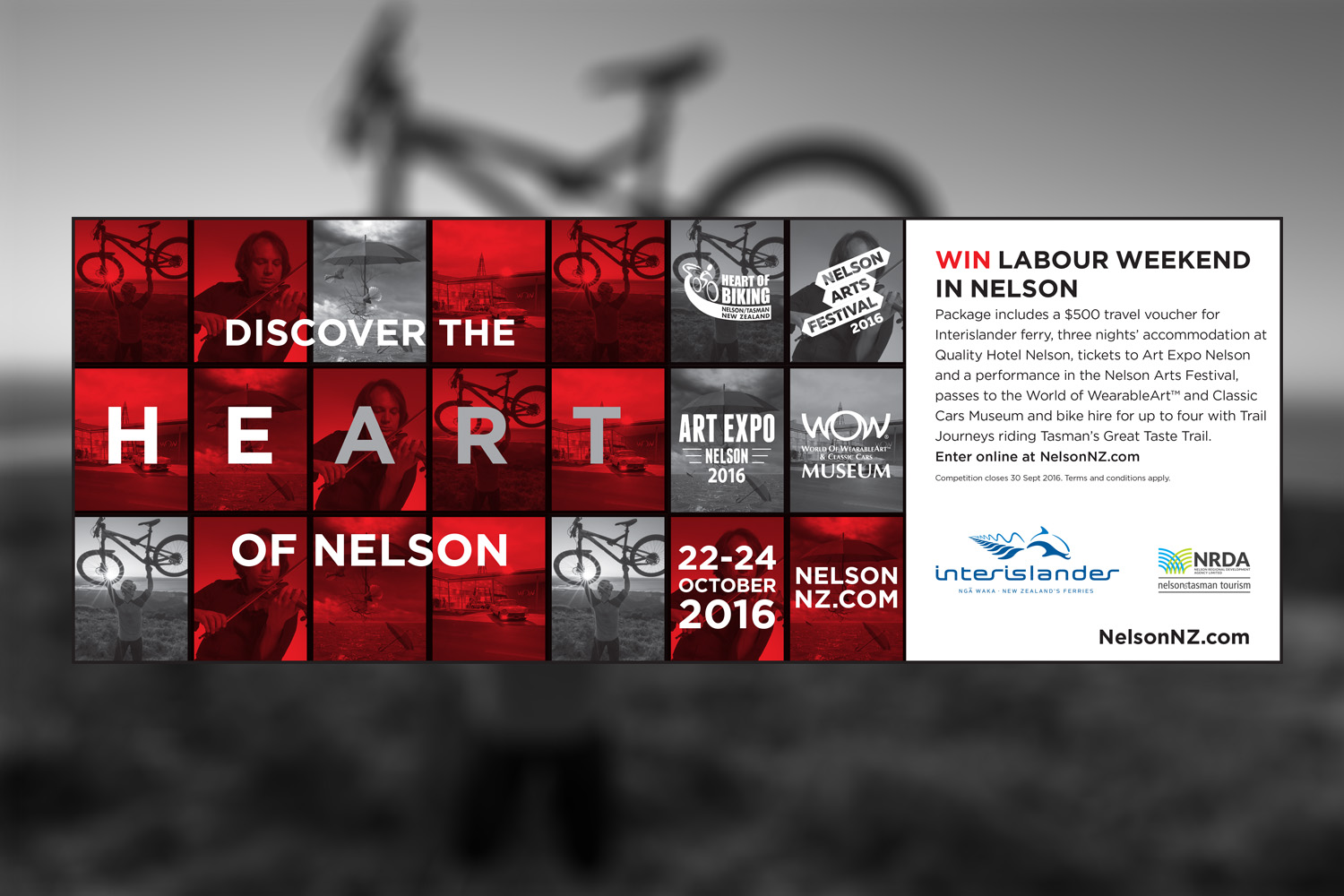 Heart of nelson Ad Design
