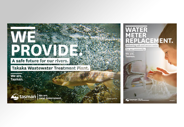 Tasman Water Ads