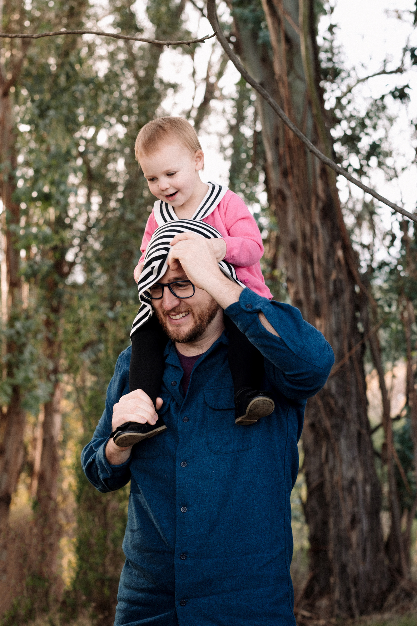 Daddy and daughter time during the family portrait photography session