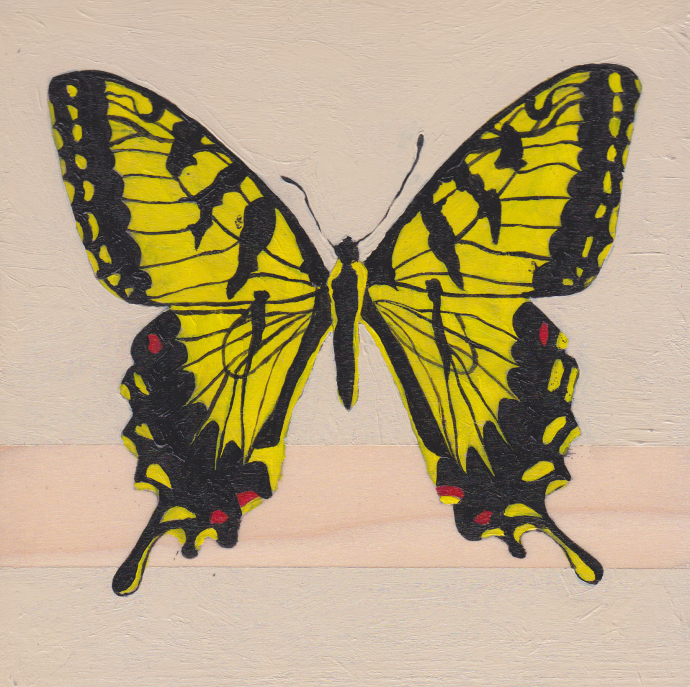 Papilio Appalachiensis Butterfly_Painting on wood_01.jpg