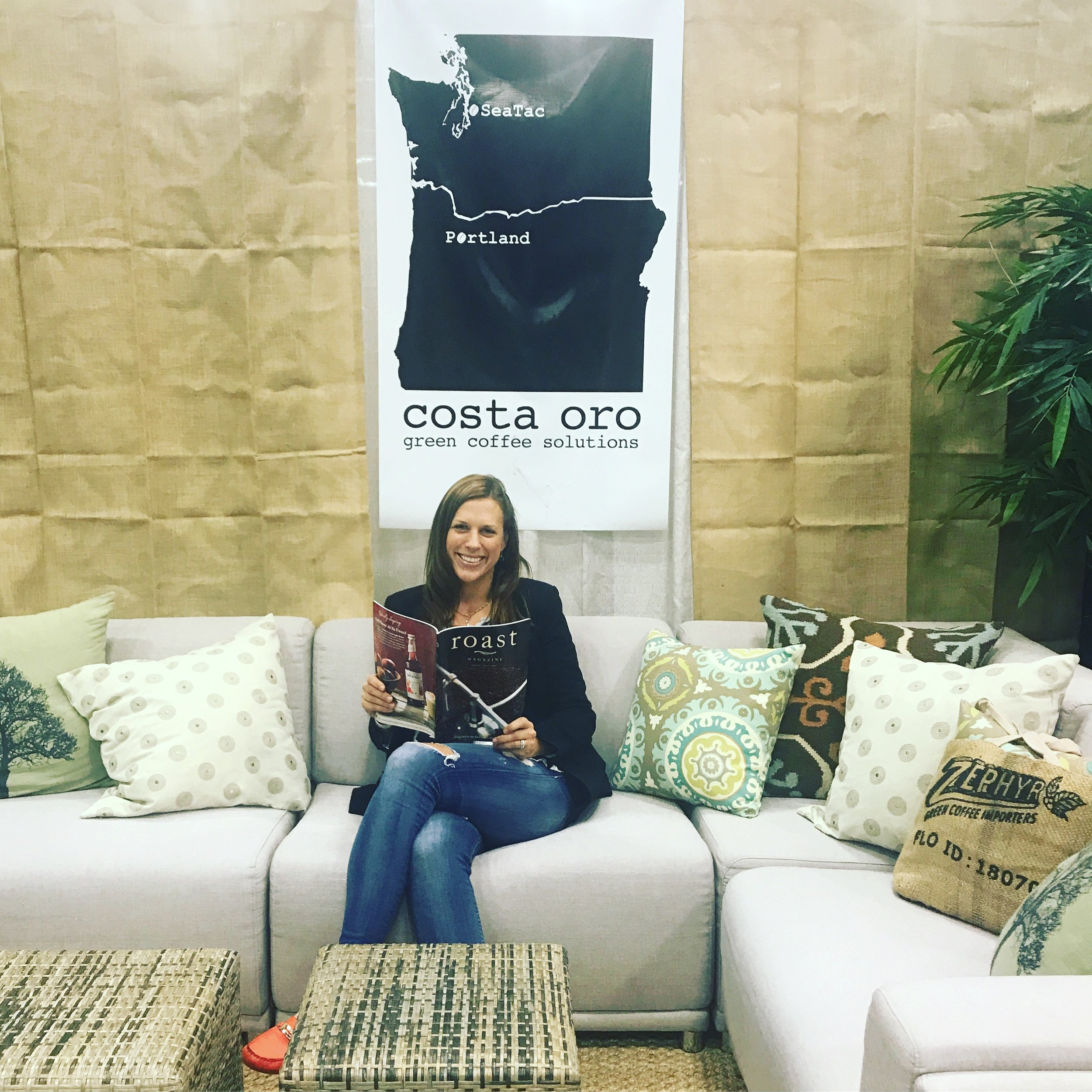 Arianna Hartstrom @ Costa Oro Booth for Coffee Fest Portland 2017