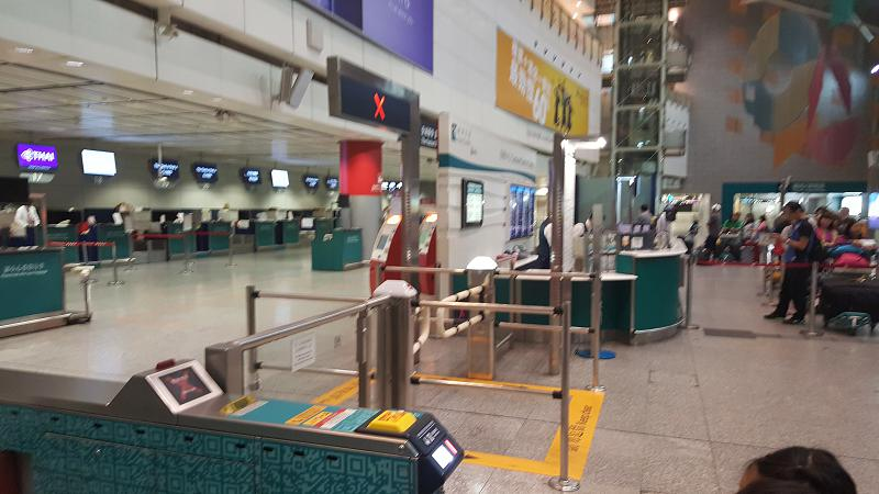 Sorry for blurry picture - Hong Kong Train Station waiting for gates to open at 0530