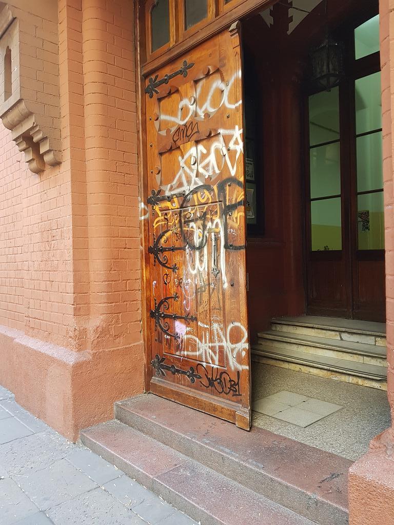 Appalling vandalism ... juvenile idiots