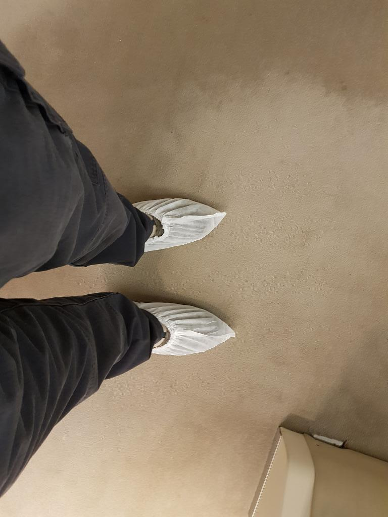 To keep the vessel clean ... love it - clean room shoe covers
