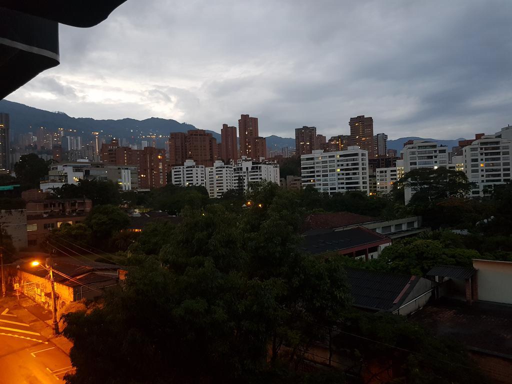 Dawn from Hotel Du Parc balcony