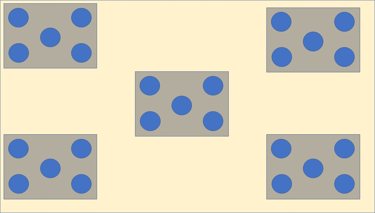 A QUINCUNX (25 item holding places)