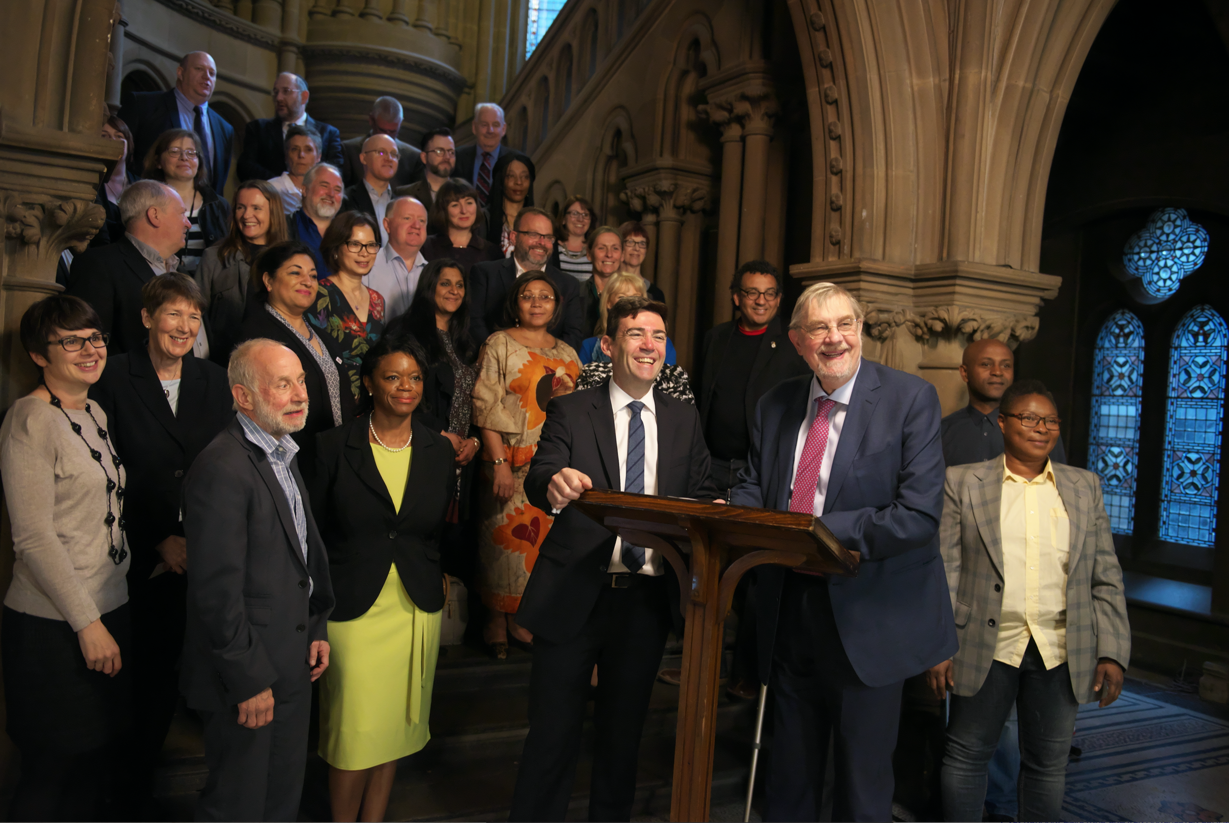 The VCSE MoU signing at Manchester Town Hall with Andy Burnham and Lord Peter Smith