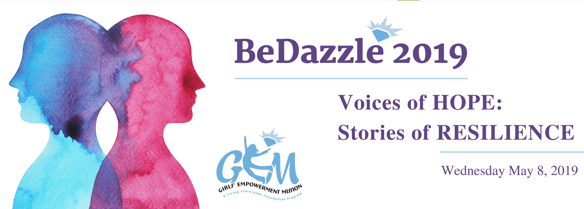 "MAY 08 (7PM- 10PM EST)G.E.M. BeDazzle 2019 - Please join us for an inspirational evening of storytelling to support our Girls' Empowerment Mission (GEM) program. Enjoy cocktails, heavy hors d'oeuvres, and a wine bar during the cocktail hour. Then hear from authors, students, and other ordinary people with extraordinary tales of resilience, community, and compassion during this ""Stoop Storytelling""-style event, including one of our very own GEM alumni.Location: Goucher College 
