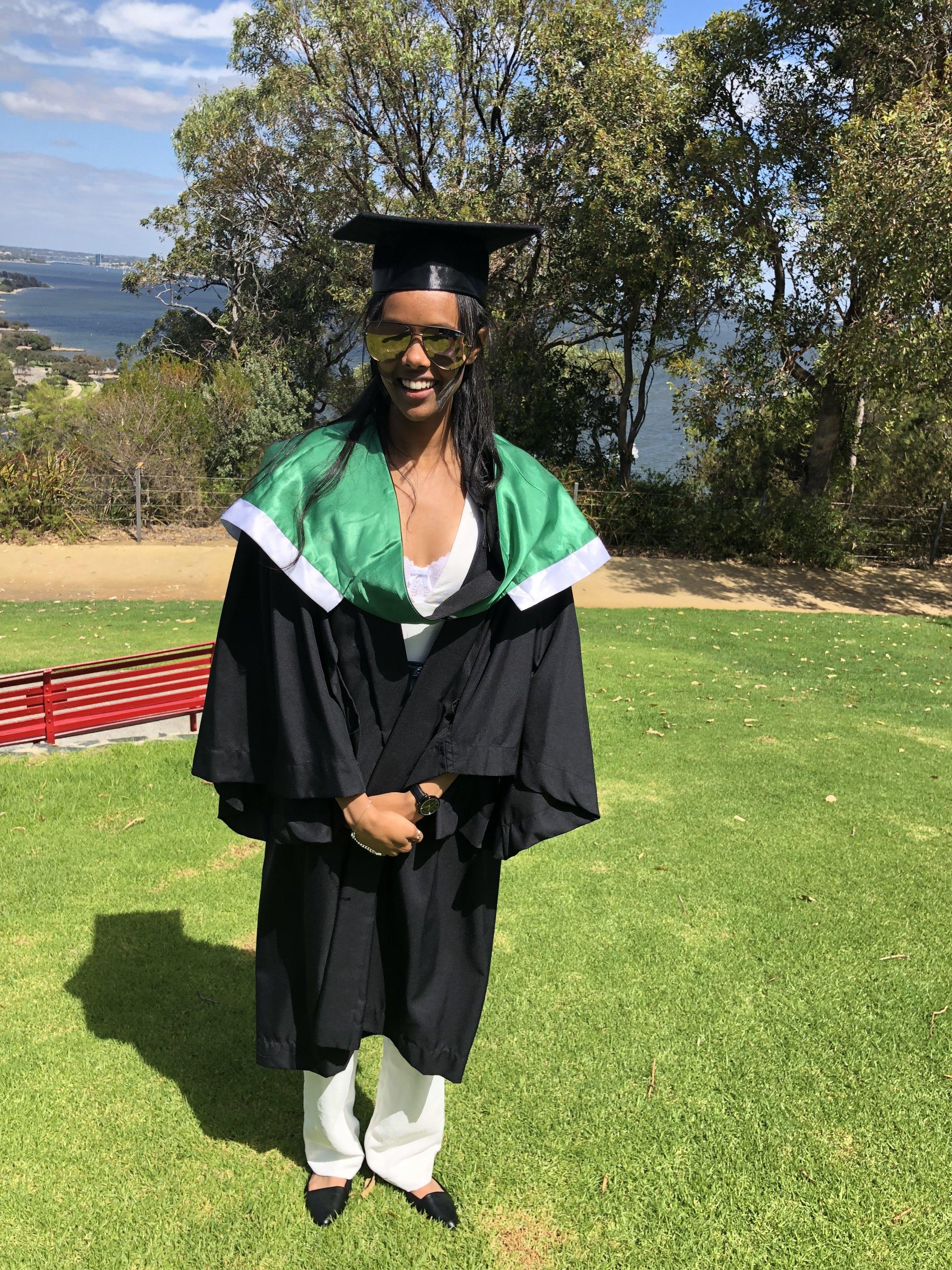 17 March 2018 - Sara graduated from UWA