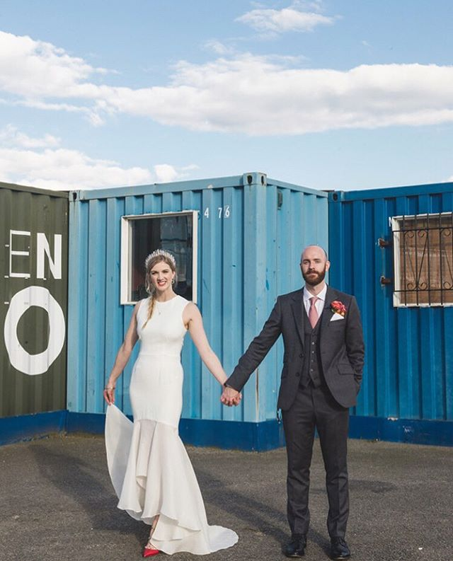 I'm a sucker for a pop of colour! And this London wedding has it in spades 💋💋💋 Andrea & Rich's Trinity Buoy Wharf nuptials by @bygarazi  For my London brides looking for inspiration this beautiful wedding has been featured on LoveMyDress.Net but you can also find the vendors listed below:  Venue: @trinitybuoywharf  Planner: @emeraldandmae  Dress: @houghtonnyc at @theloversbride  Hair and make-up: @portraitsbridal  Shoes: @maisonvalentino  Crown: @crownsandwreaths  Suit: @gieveslondon  Tie: @hermes  Boutonnière: @hidinginthecityflowers. . . #wedding #ukwedding #realwedding #londonwedding #londonweddingphotographer #industrialwedding #citywedding #urbanwedding #modernwedding #contemporarywedding #minimalweddingdress #houghtonnyc #houghtonbride #quartzcrown #weddingphotography #weddingplanning #trinitybuoywharf #trinitybuoywharfwedding #birminghamweddingphotographer  #ukweddingphotographer #bridalhair #bridalcrown #crystalcrown #quartz