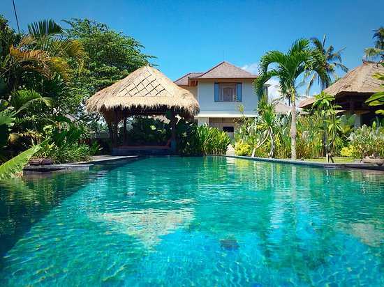 The Shala Bali - Relax by the pool after yoga…