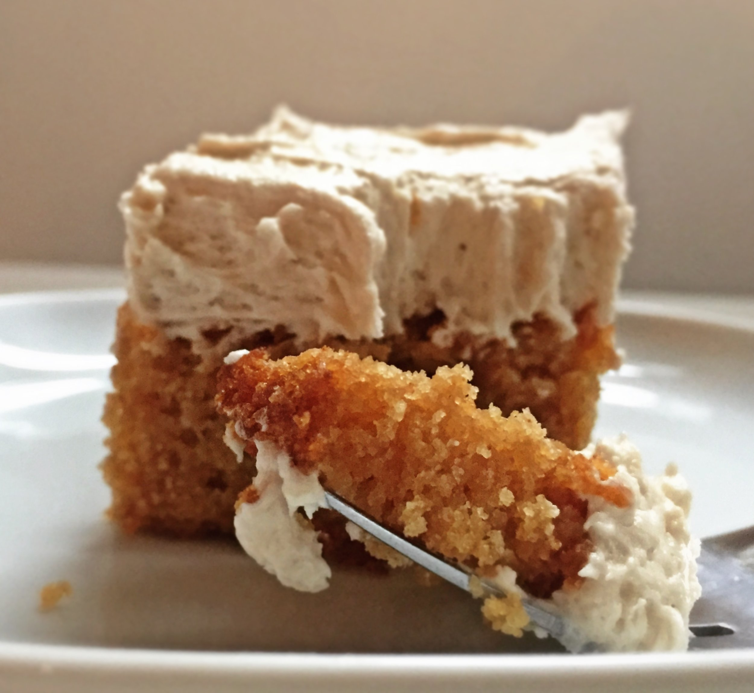 Peanut butter Cake with Banana Buttercream