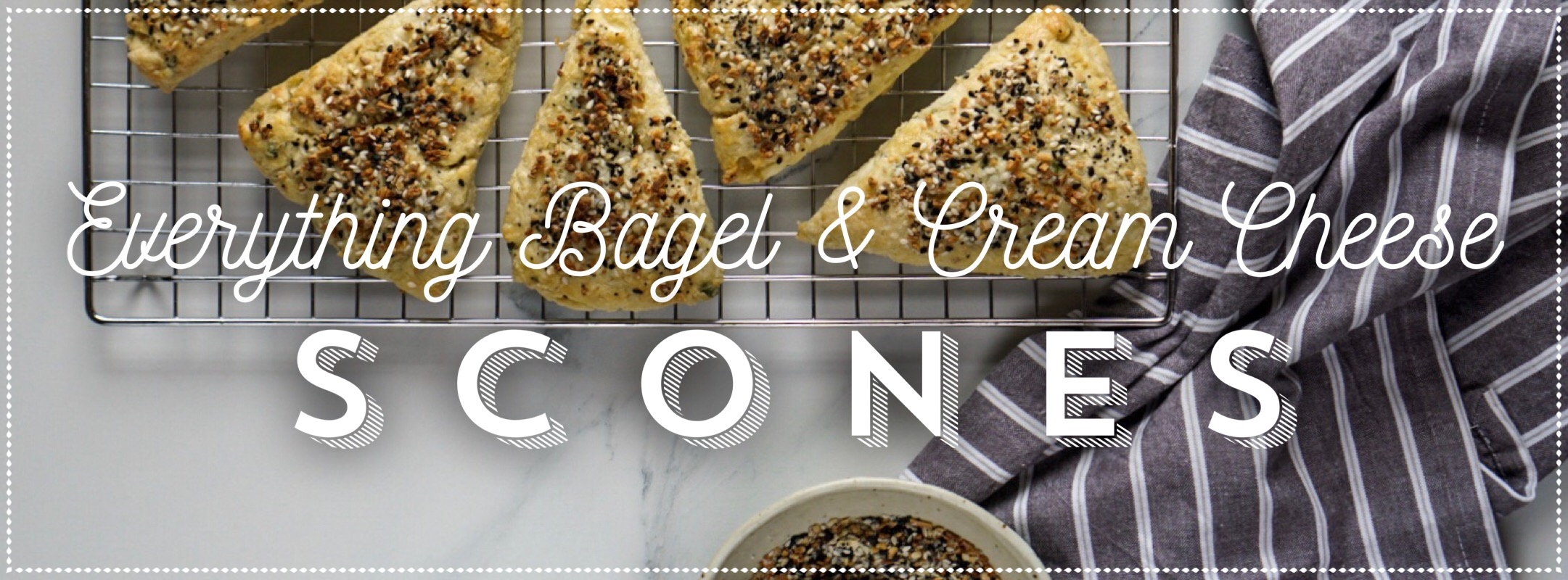 Everything Bagel With Cream Cheese Scones