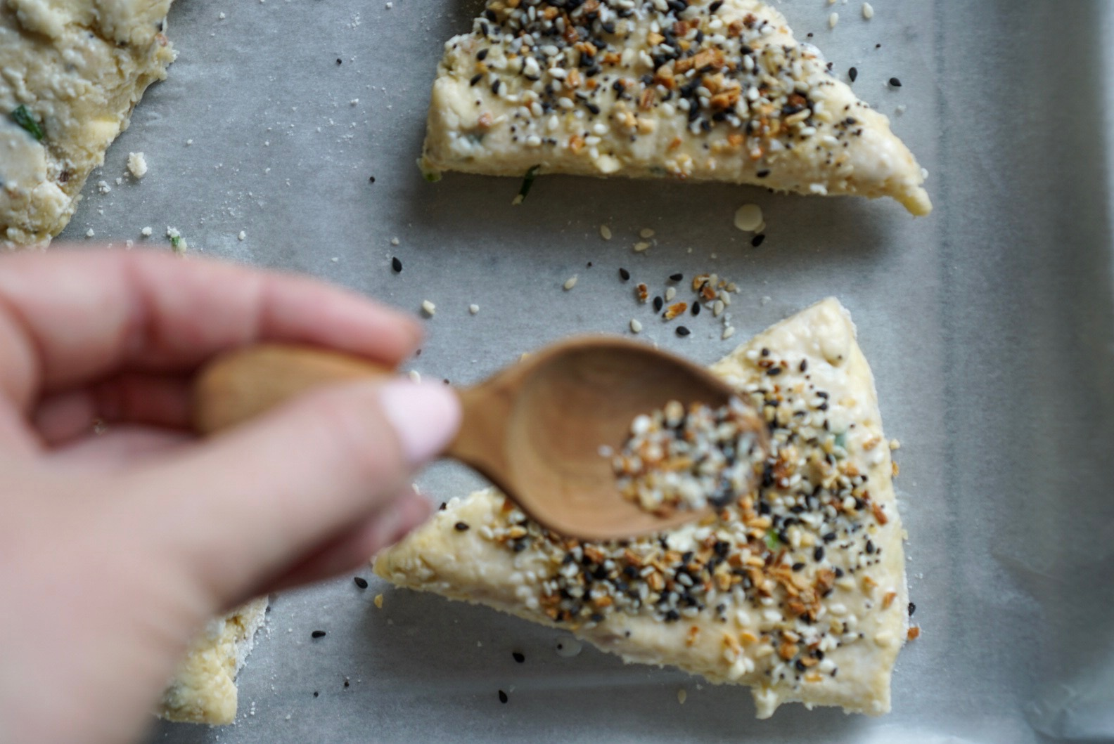 Everything Bagel & Cream Cheese Scones