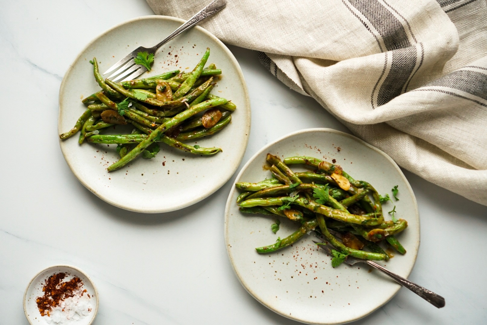 Blistered Miso Green Beans