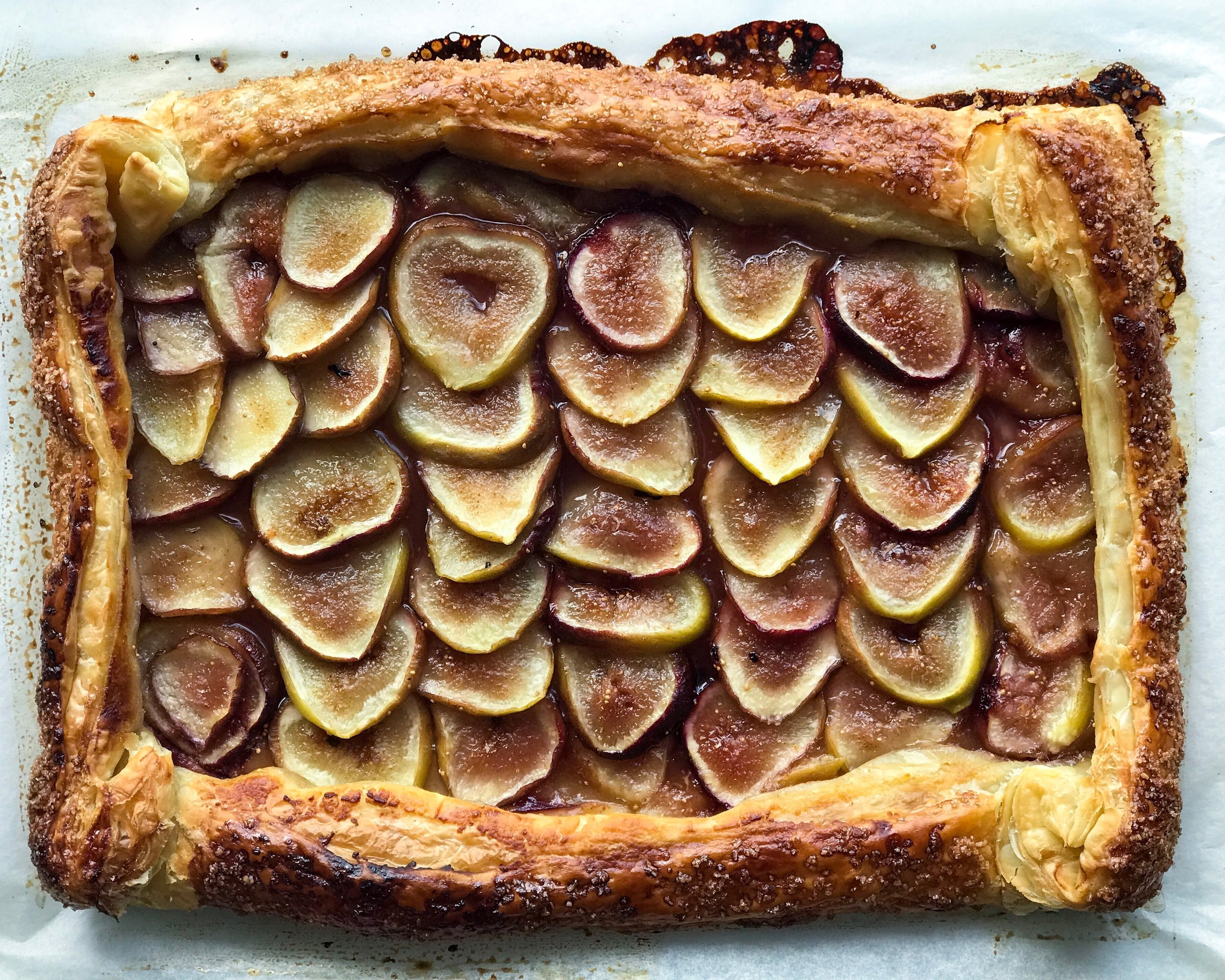 earl grey honey fig galette